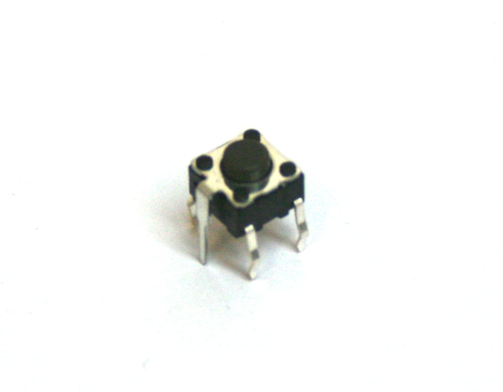 Pushbutton tact switch, 5mm, 4-pin with ground