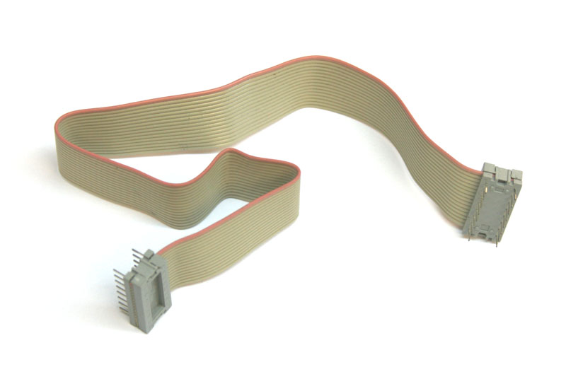 ribbon cable 10 inch with 16 pin dip connectors