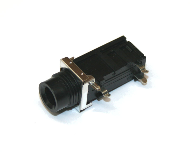 Phone jack, 1/4-inch, 3-pin PCB mount