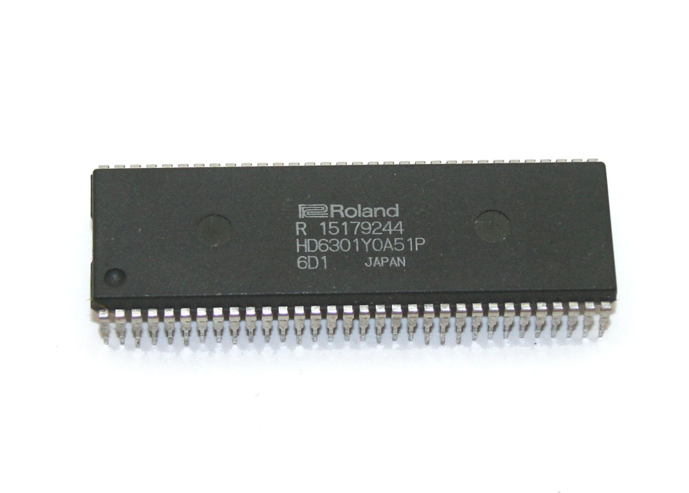 IC, Roland HD6301Y0A51P CPU chip