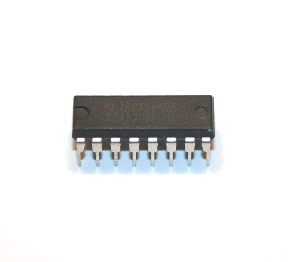 IC, 4520 dual binary up counter