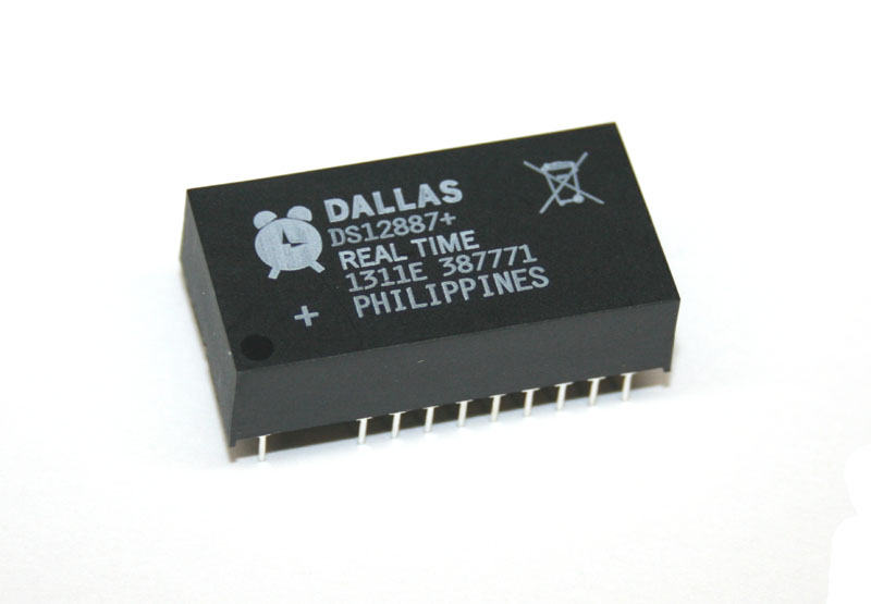 IC, DS12887 real time clock chip, with battery