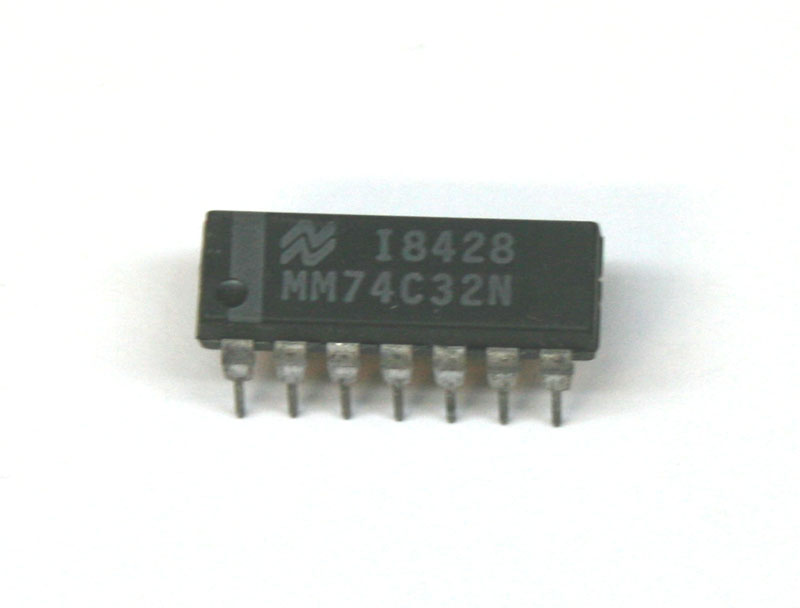IC, 74C32N quad 2-input OR gate