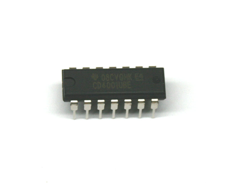 IC, 4001 quad NOR gate