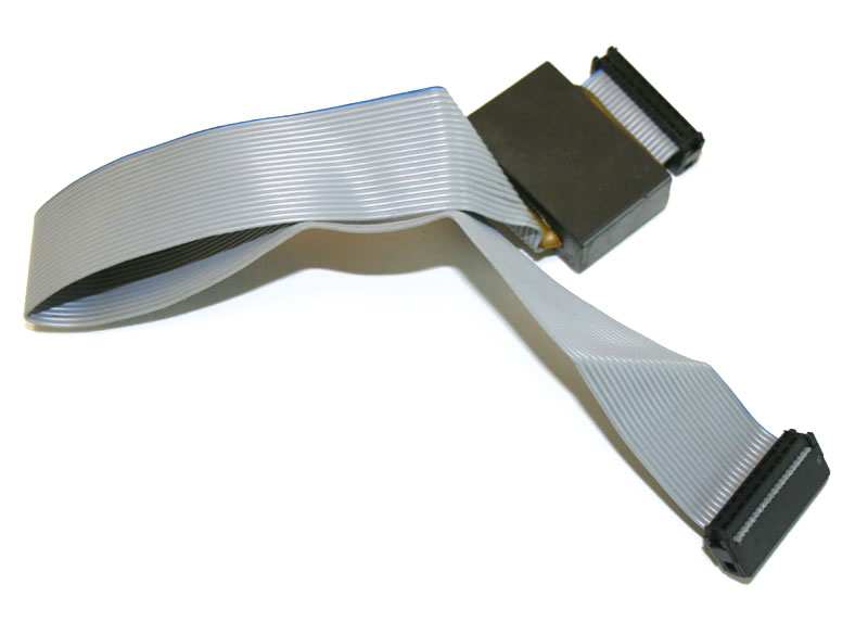 Ribbon cable, 13-inch, 20-pin, with choke