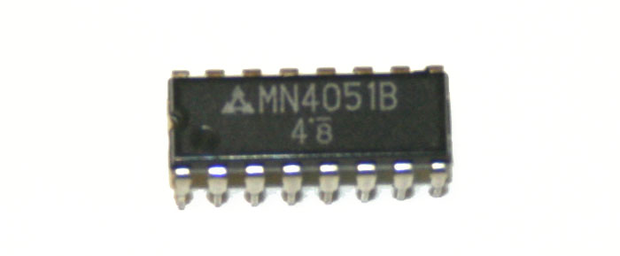 IC, 4051 multiplexer chip