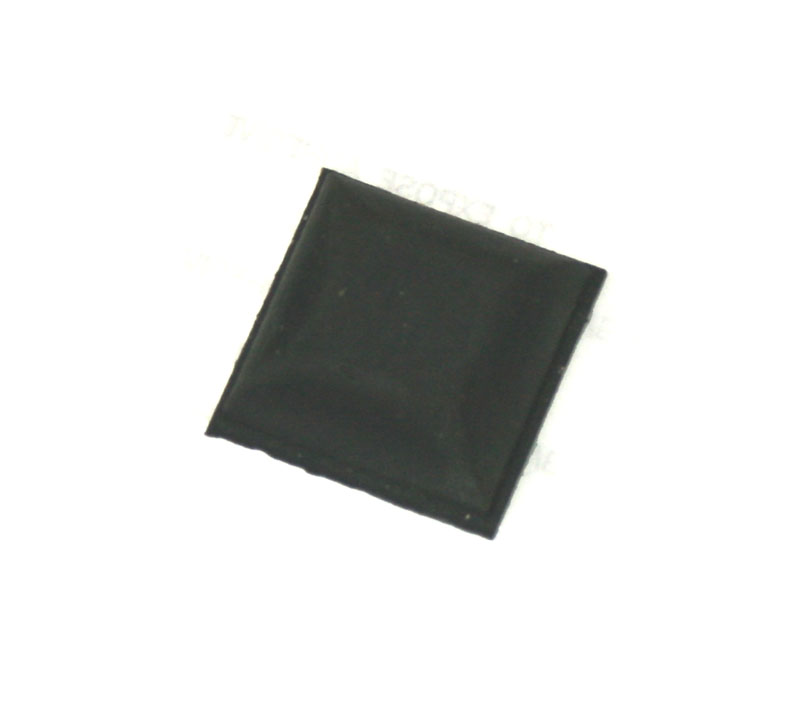Rubber foot, square, self-adhesive