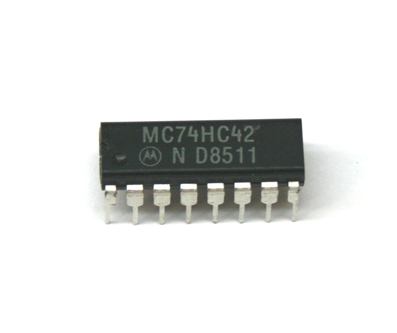 IC, 74HC42 dual monostable multivibrator