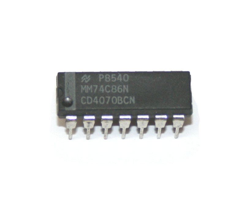 IC, 4070 quad 2-input exclusive OR gate