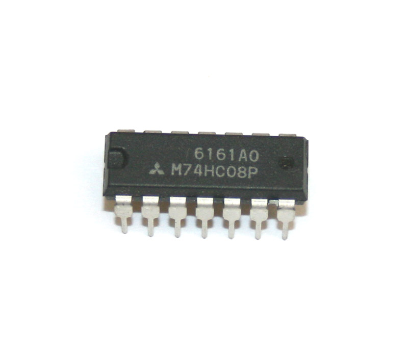 IC, 74HC08 quadruple 2-input AND gate