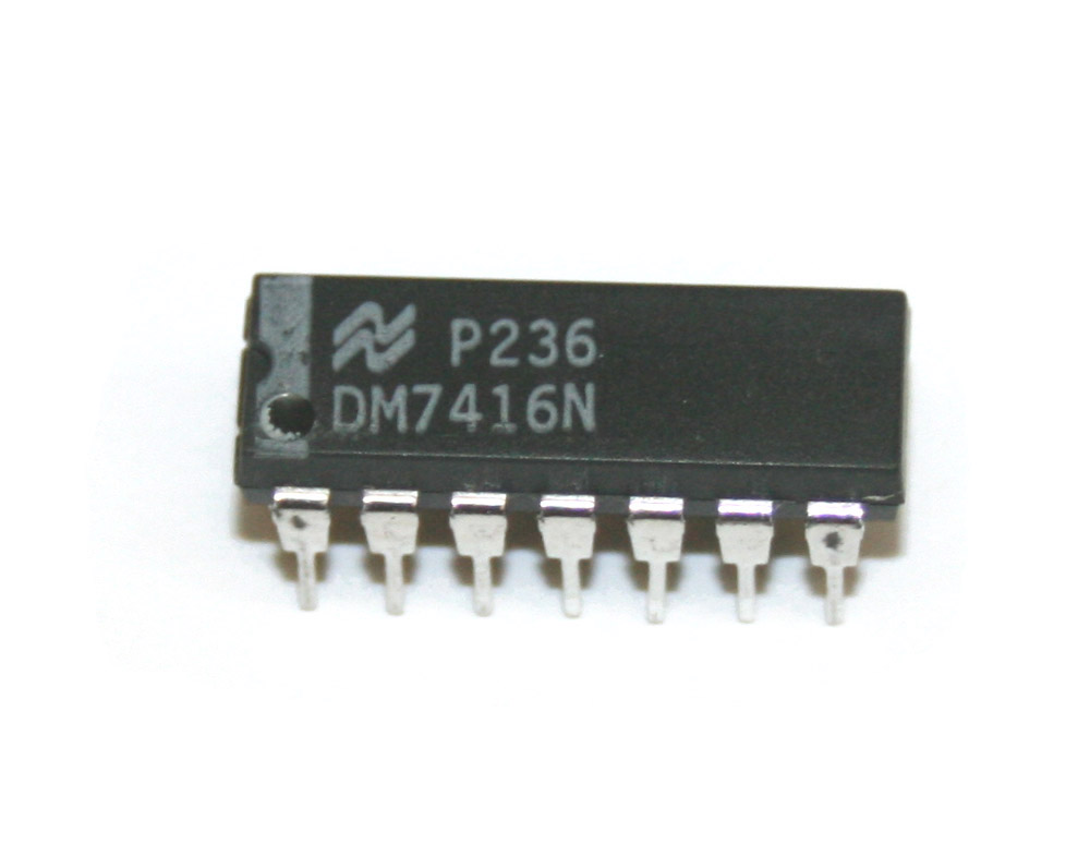 IC, 7416N hex inverter buffer/driver