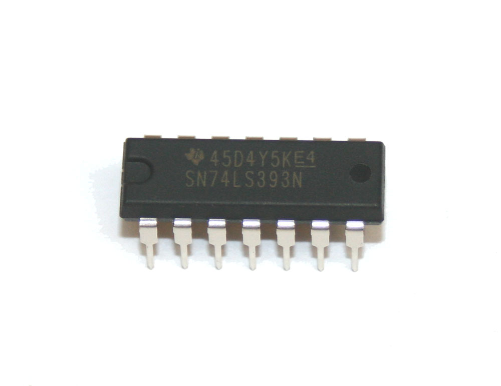 IC, 74LS393 dual binary counter