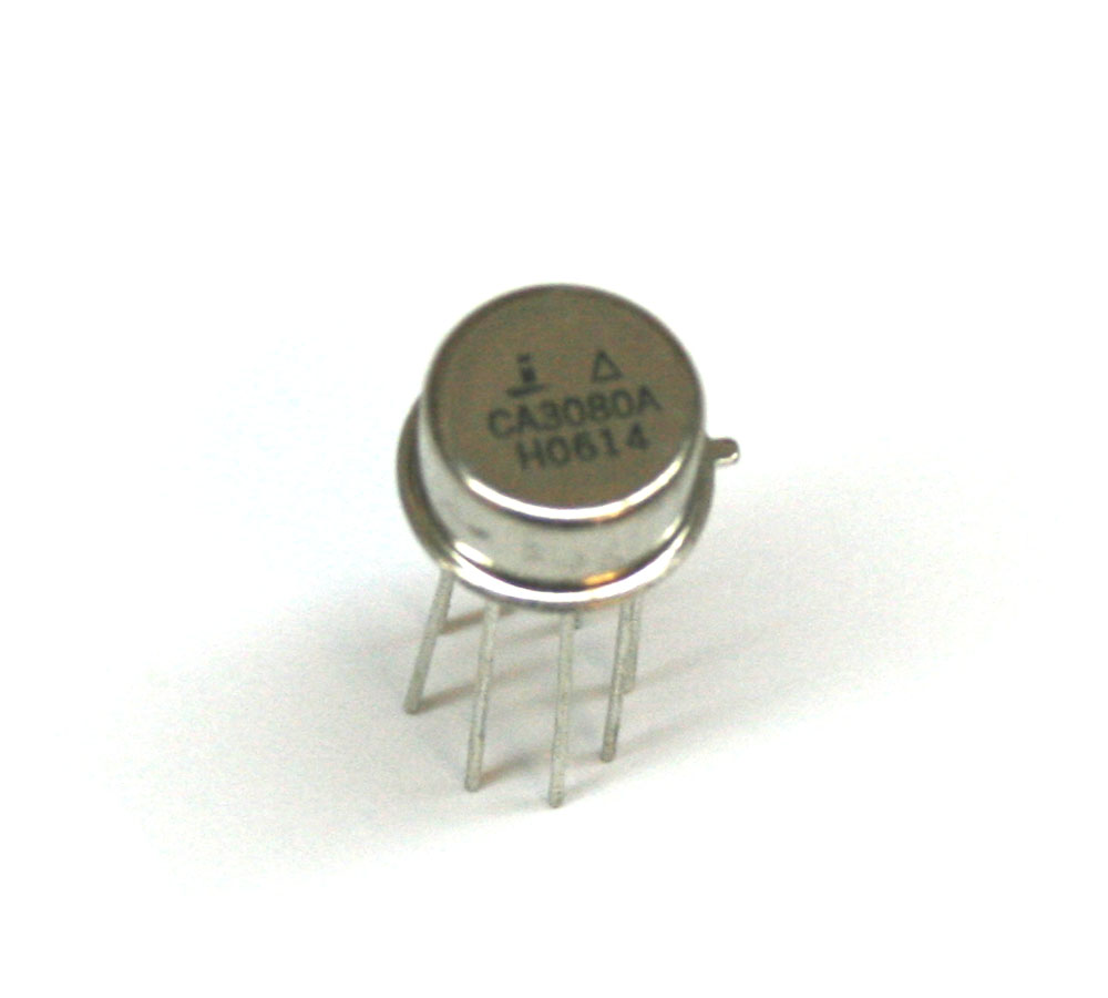 IC, CA3080A op amp, CAN-8 package