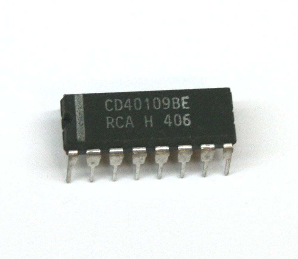 IC, 40109 Lo-to-Hi voltage level shifter
