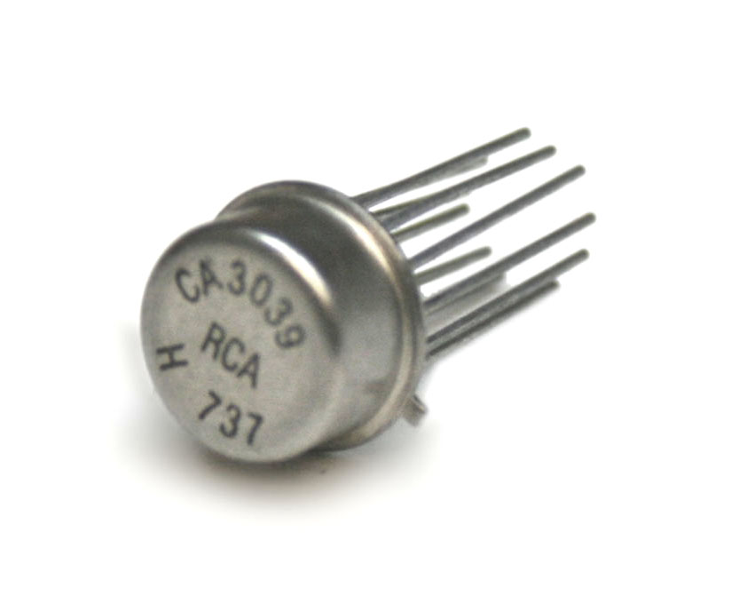 IC, CA3039 can-style diode array