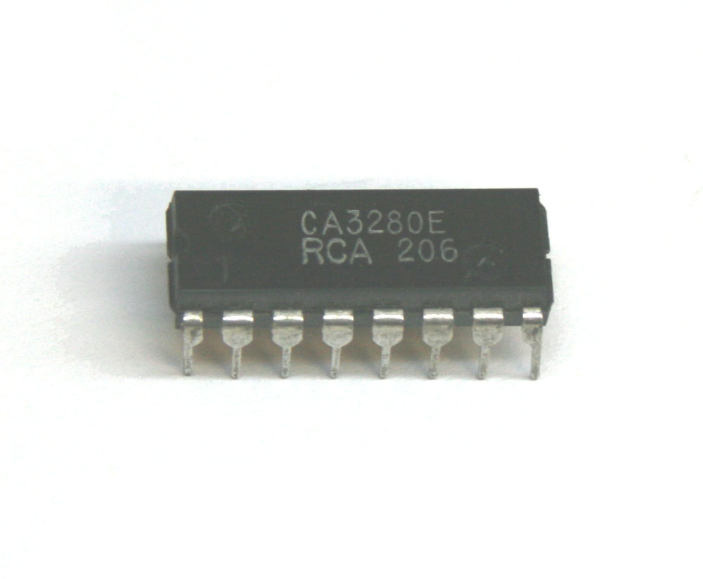 IC, CA3280 transconductance amplifier