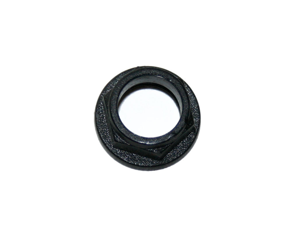 Nut, black plastic, for phone jack