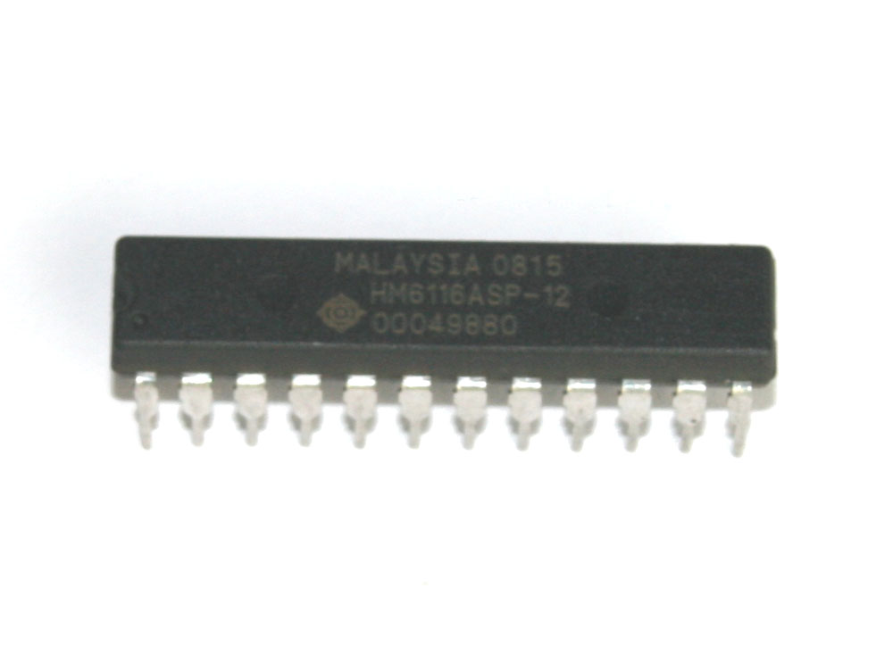 IC, HM6116ASP-12 or MB8416A SRAM chip