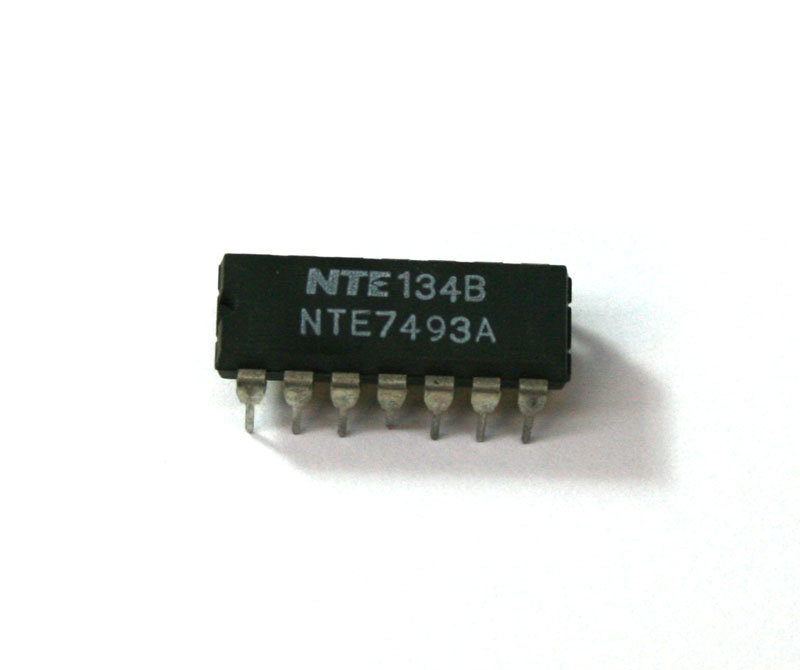 IC, 7493 4-bit binary counter