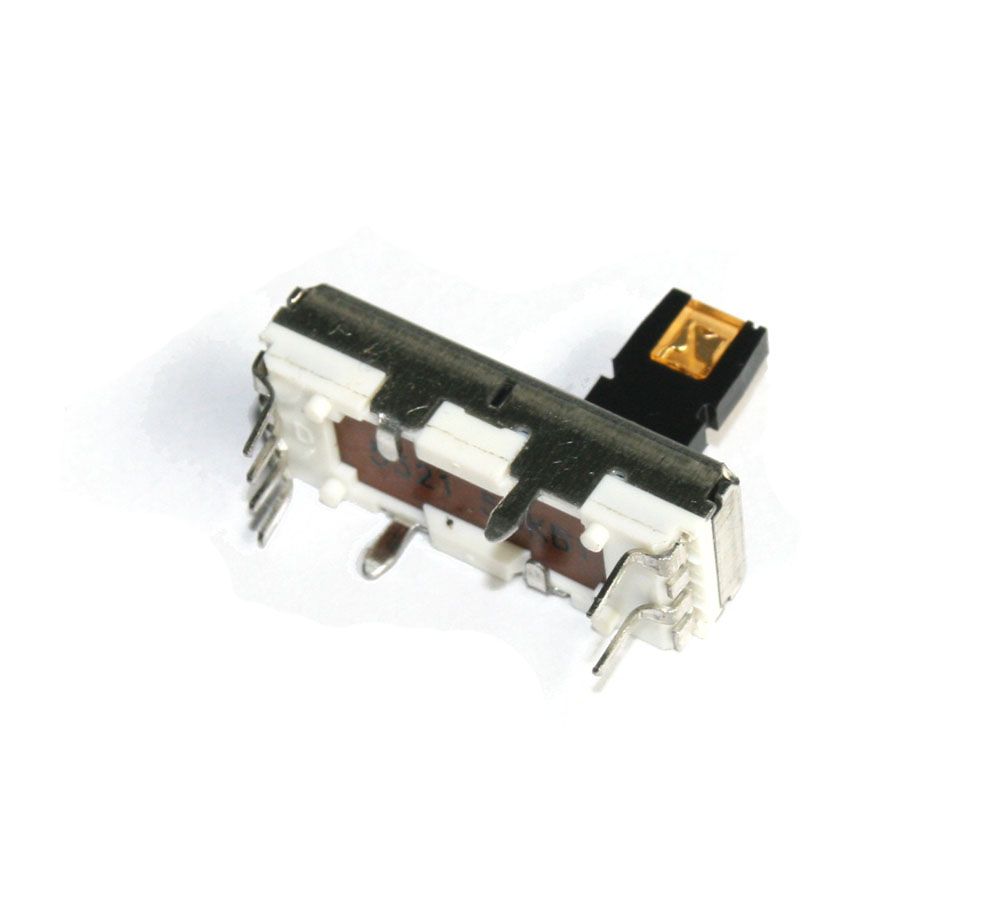 Slide potentiometer, 50KB with amber LED, 10mm
